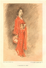 "Robert Frederick Blum ""A Daughter of Japan"" chromolithograph"