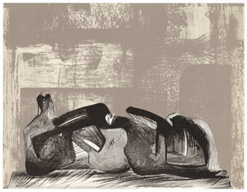 Henry Moore original lithograph, 1977