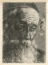 "Hermann Struck ""Old Jew from Jaffa"" original etching"