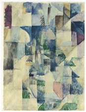 Robert Delaunay La fenetre No. 2 color pochoir