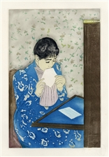 "Mary Cassatt etching and aquatint ""The Letter"""