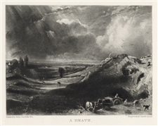 "Sir John Constable / David Lucas mezzotint ""A Heath"""