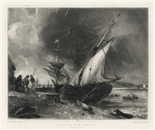 "Sir John Constable / David Lucas mezzotint ""View of the Orwell"""