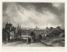 "Sir John Constable / David Lucas mezzotint ""Hampstead Road"""