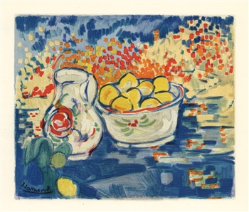 "Maurice de Vlaminck ""Still Life with Lemons"" lithograph"