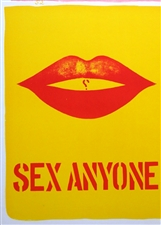 "Robert Indiana original lithograph ""Sex Anyone?"""