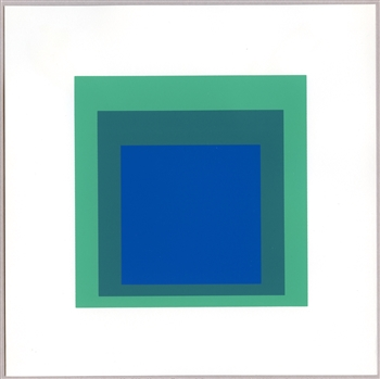 "Josef Albers silkscreen ""Homage to the Square"" (Albers last print)"