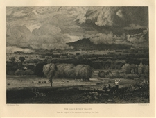 "George Inness etching ""The Saco River Valley"""