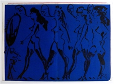 "Claes Oldenburg original lithograph ""Parade of Women"""