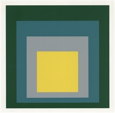 "Josef Albers silkscreen ""Homage to the Square"" 1968"