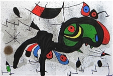 Joan Miro original lithograph Le belier fleuri | The Blooming Ram