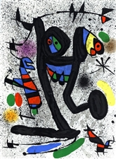 Joan Miro original lithograph Butterfly Girl