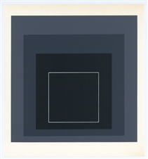 Josef Albers silkscreen, White Line Squares | Homage to the Square