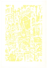 Roy Lichtenstein Cathedral lithograph 1969