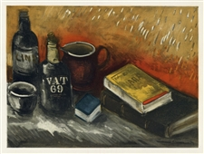 Maurice de Vlaminck Still Life with Whisky Bottle lithograph