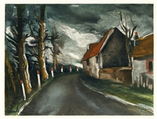 "Maurice de Vlaminck ""The Longny Road"" lithograph"