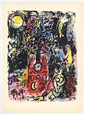 Marc Chagall Tree of Jesse original lithograph Derriere