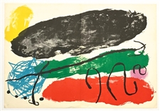 Joan Miro original lithograph, 1960