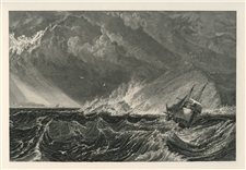 "J. M. W. Turner ""The Mewstone"" engraving"