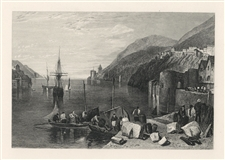 "J. M. W. Turner ""Dartmouth"" engraving"