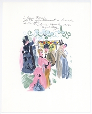 "Raoul Dufy lithograph ""Homage to Renoir"""