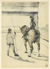"Toulouse-Lautrec ""Travail de repetition"" lithograph 