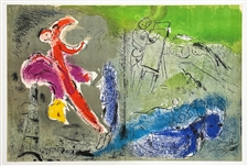 "Marc Chagall ""Vision of Paris"" original lithograph"