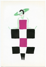 "Sonia Delaunay pochoir ""Mots-Croises"" (Crossword)"