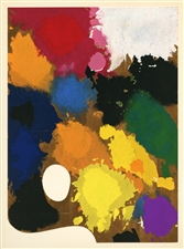 "Joan Miro ""The Palette of the Artist"" pochoir with cut-out 1967"