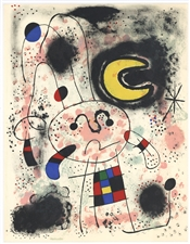 Joan Miro original lithograph, 1953