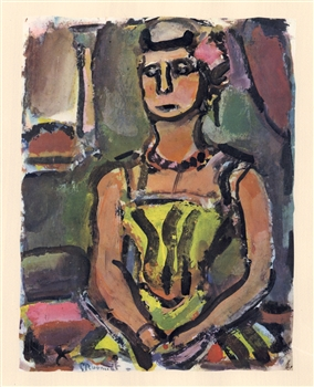 "Georges Rouault lithograph ""Madame Yxe"