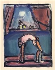 "Georges Rouault lithograph ""Acrobate"""