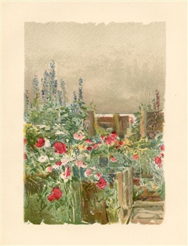 "Childe Hassam chromolithograph ""Home of the Humming-bird"""