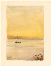 "Childe Hassam chromolithograph ""Sunset and the Pinafore"""