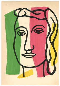 "Fernand Leger lithograph ""Visage"" edition of 1000"