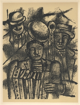 "Fernand Leger lithograph ""Les musiciens"" edition of 1000"