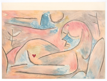 "Paul Klee lithograph ""L'Hiver"" Winter"