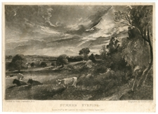 "Sir John Constable / David Lucas mezzotint ""Summer Evening"""