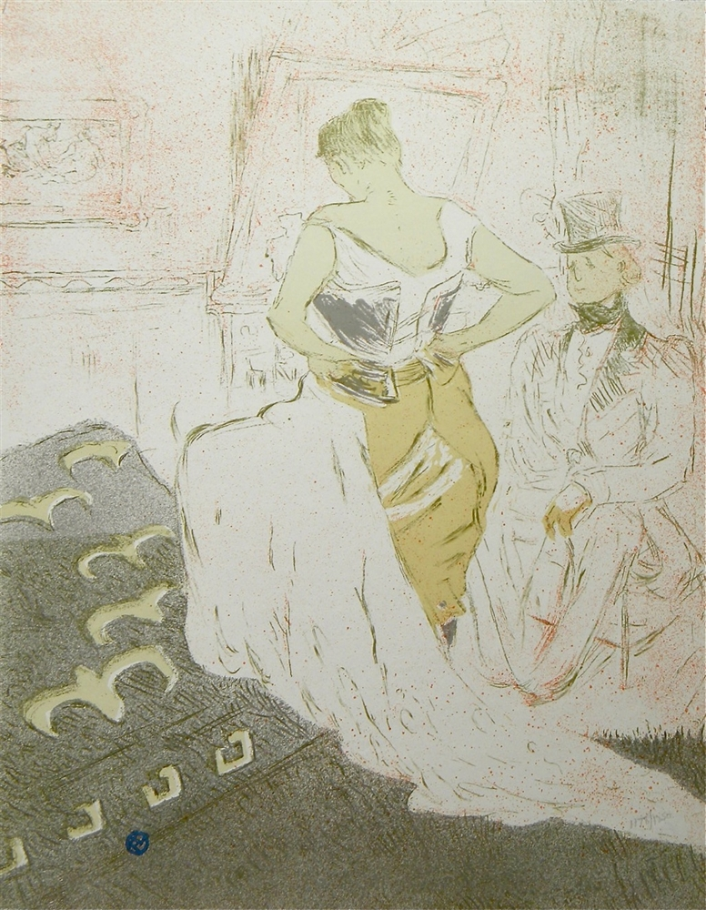toulouse lautrec le gommeux the masher lithograph elles. Black Bedroom Furniture Sets. Home Design Ideas