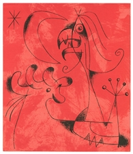 "Joan Miro original lithograph ""Composition 6"""