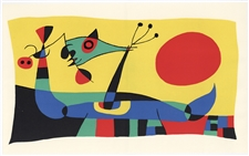 Joan Miro original lithograph (Composition 2) 1956