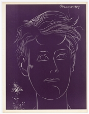 "Louis Marcoussis original burin etching and engraving ""Rimbaud"""