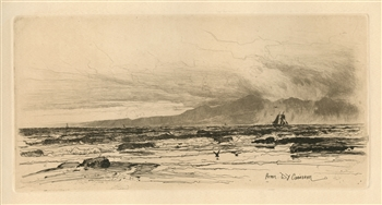 "David Young Cameron ""Arran"" original etching"