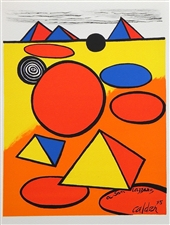 Alexander Calder original lithograph | Homage to San Lazzaro, 1975