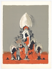 Graham Sutherland original lithograph | Homage to San Lazzaro, 1975