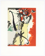 "Jean Lurcat lithograph ""Homage to Dufy"""