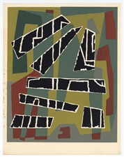 Jean Deyrolle color silkscreen, 1953