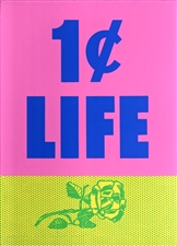 Roy Lichtenstein 1 Cent Life silkscreen 1964