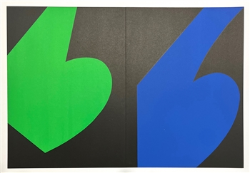 Ellsworth Kelly original lithograph, 1958, derriere