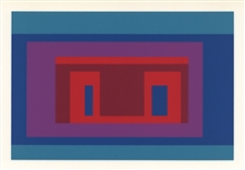 Josef Albers silkscreen Variant on a Theme